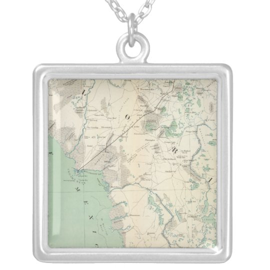 Gen map XI Silver Plated Necklace