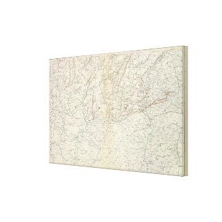 Gen map XIII Canvas Print