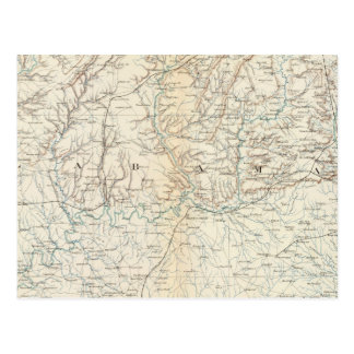 Gen map XIII Postcard