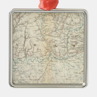 Gen map XIII Square Metal Christmas Ornament