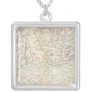 Gen map XIII Square Pendant Necklace