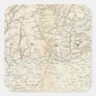 Gen map XIII Square Sticker