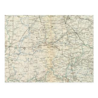Gen map XVI Postcard