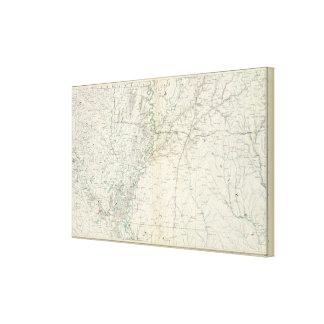 Gen map XX Canvas Print