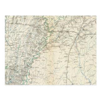 Gen map XX Postcard