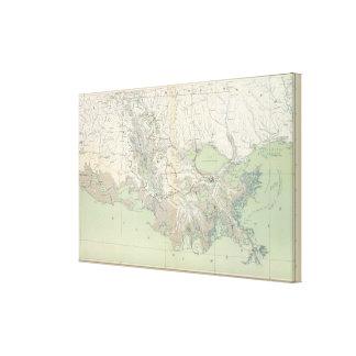 Gen map XXI Canvas Print