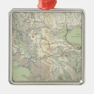 Gen map XXI Square Metal Christmas Ornament