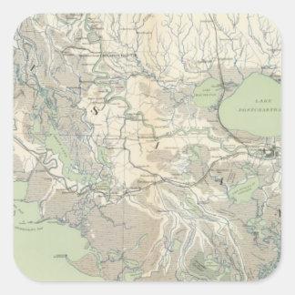 Gen map XXI Square Sticker