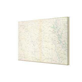Gen map XXIII Canvas Print