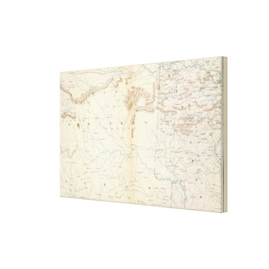 Gen map XXIV Canvas Print