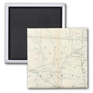 Gen map XXV 2 Inch Square Magnet