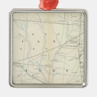 Gen map XXV Metal Ornament