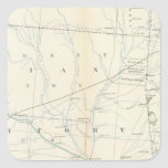 Gen map XXV Square Sticker