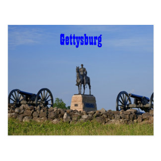 Gen. Meade en la postal de Gettysburg