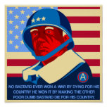 GEN Patton quote Poster