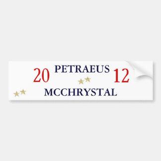 Gen. Petraeus y Gen. McChrystal para el presidente Pegatina Para Auto
