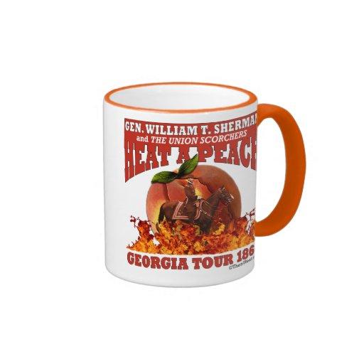 Gen Sherman 'Heat a Peach' Tour 1864 Mug