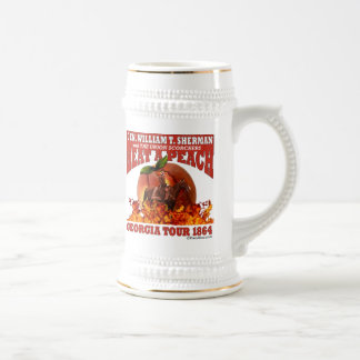 Gen Sherman 'Heat a Peach' Tour 1864 Stein Coffee Mugs
