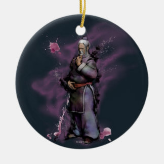 Gen Standing Double-Sided Ceramic Round Christmas Ornament