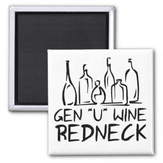 Gen U Wine Redneck 2 Inch Square Magnet