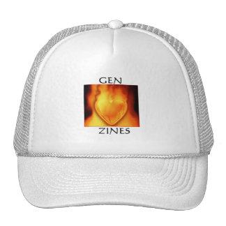 Gen Zine Burning Heart Cap Trucker Hat