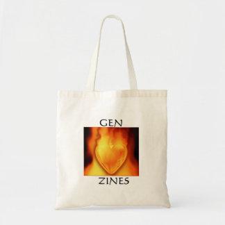 Gen Zine Burning Heart Tote