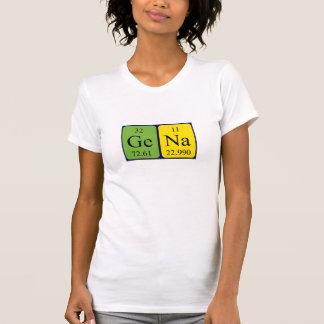 Gena periodic table name shirt