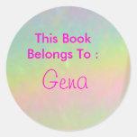 Gena Round Sticker