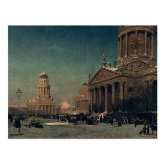 Gendarmenmarkt en invierno, 1857 tarjetas postales