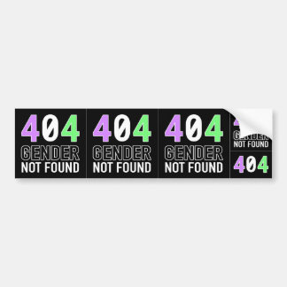 Gender 404 Decal (5 in 1) Bumper Sticker