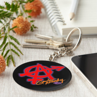 Gender Anarchy - Red letter classic design Keychain