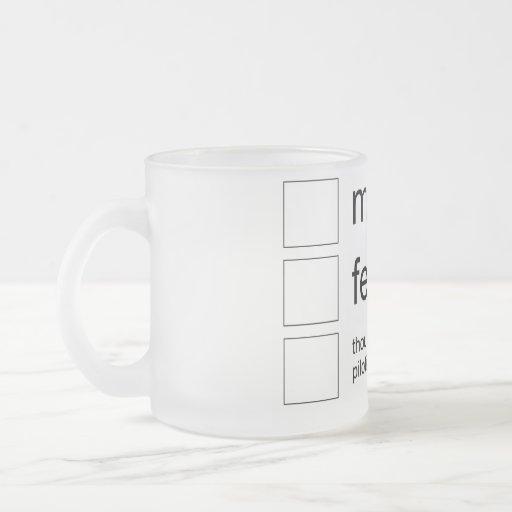 gender bug mug coffee mug