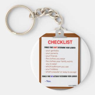 Gender Checklist Keychain