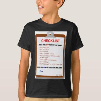 Gender Checklist T-Shirt