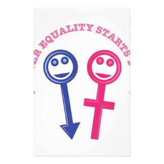 Gender Equality Stationery