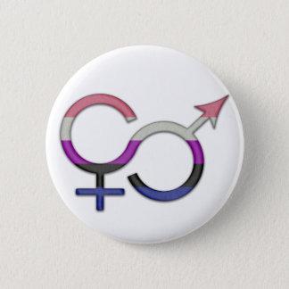 Gender Fluid Symbol Button