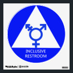 """Gender Inclusive Restroom Sign/Decal Wall Decal<br><div class=""""desc"""">A 12-inch by 12-inch decal proudly announcing that this restroom is open to all genders.</div>"""