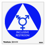 Gender Inclusive Restroom Sign/Decal Wall Decal<br><div class='desc'>A 12-inch by 12-inch decal proudly announcing that this restroom is open to all genders.</div>