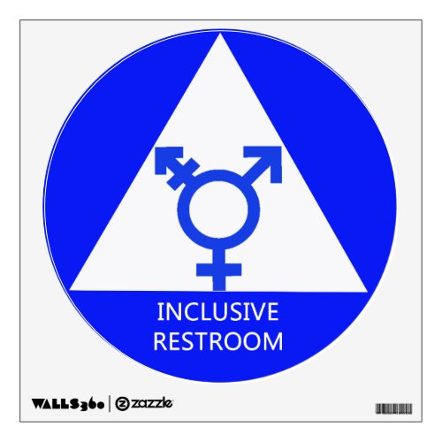 Gender Inclusive Restroom SignDecal Wall Decal