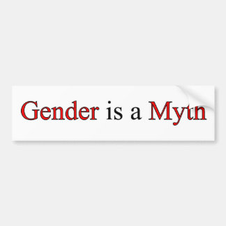 Gender is a Myth Bumper Sticker