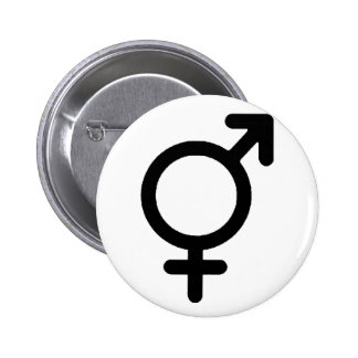 Gender Neutra Black The MUSEUM Zazzle Gifts Pinback Button