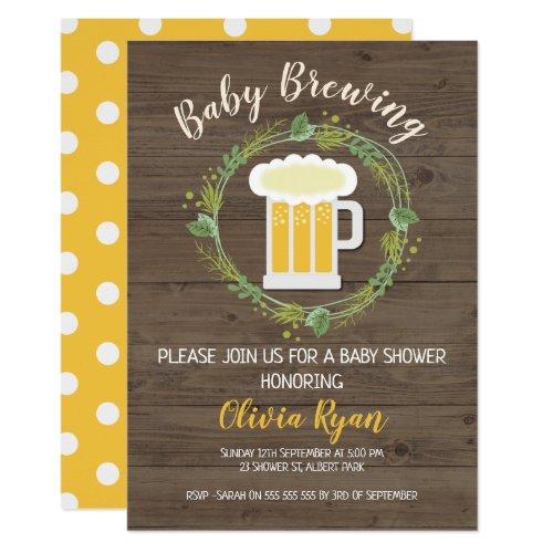 Gender Neutral Baby Brewing Baby Shower Invitation