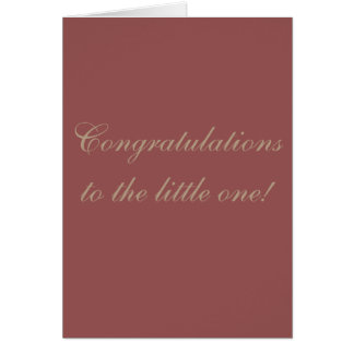 Gender Neutral Baby Congratulation Card