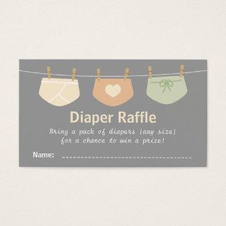 Gender Neutral Baby Shower Diaper Raffle Tickets