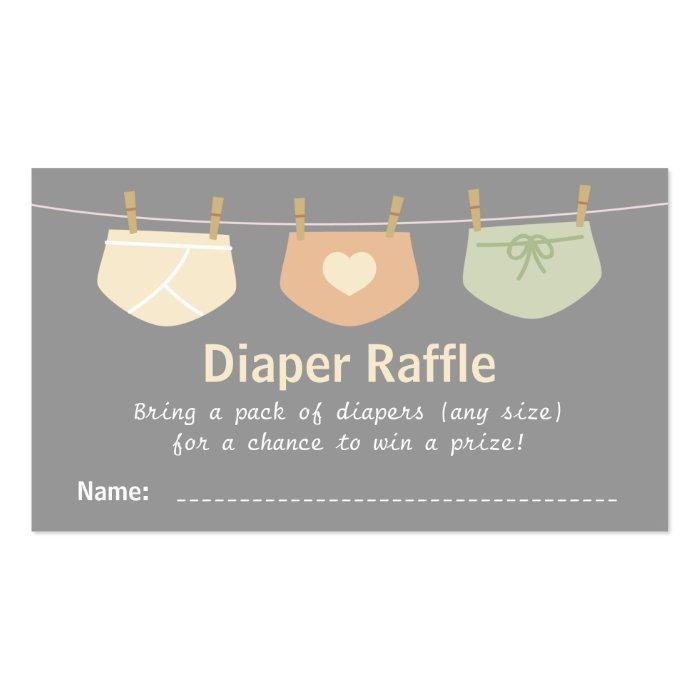 Gender Neutral Baby Shower Diaper Raffle Tickets Business