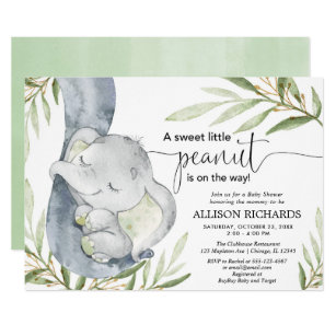 Greenery Gender Neutral Baby Shower Invitations Zazzle