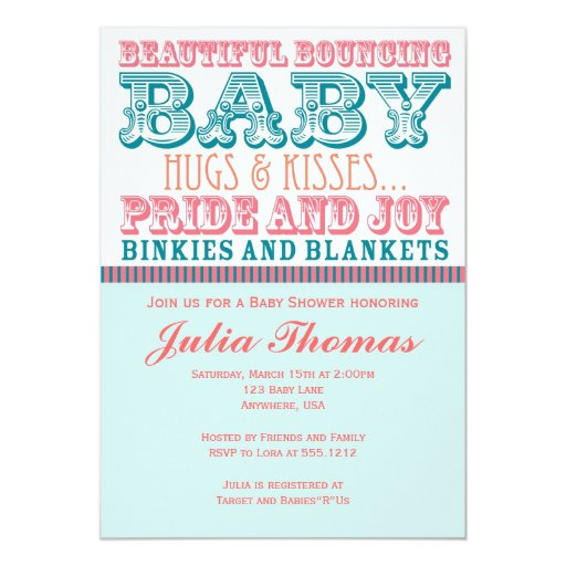 Gender Neutral Baby Shower Invitation 5 Quot X 7 Quot Invitation