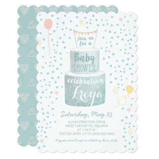 Gender Neutral Baby Shower Invitation - Baby Cakes