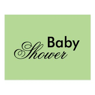 Gender neutral baby shower postcards