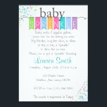"""Gender Neutral Baby Sprinkle Invitations<br><div class=""""desc"""">Gender neutral baby sprinkle invitations! Perfect for a girl or a boy!</div>"""